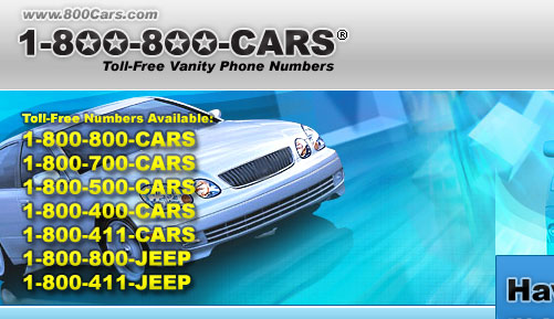 Toll-Free Numbers available for use: 1-800-800-CARS, 1-800-800-JEEP, 1-800-500-CARS, 1-800-411-CARS, 1-800-800-JEEP, 1-800-411-JEEP, 1-800-500-CARS, 1-800-400-CARS
